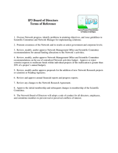IP3 Board of Directors Terms of Reference
