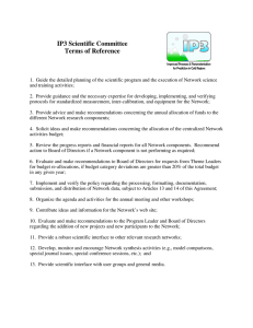 IP3 Scientific Committee Terms of Reference