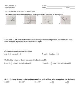 AP Calculus AB MidTerm Review - Jonathan Flint