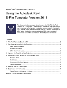 Using the Autodesk Revit S-File Template, Version 2011