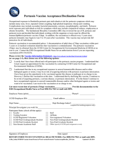 Pertussis Vaccine Acceptance/Declination Form