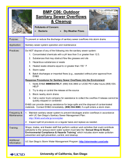 BMP C06: Outdoor Sanitary Sewer Overflows & Cleanup