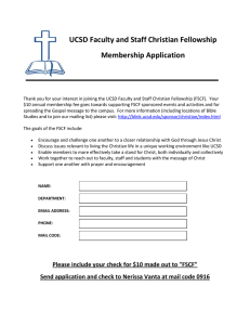 UCSD Faculty and Staff Christian Fellowship  Membership Application