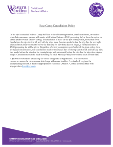 Base Camp Cancellation Policy