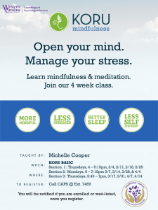 Open your mind. Manage your stress. Learn mindfulness & meditation.