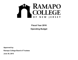 Fiscal Year 2016 Operating Budget  Approved by: