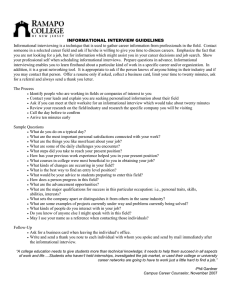 INFORMATIONAL INTERVIEW GUIDELINES
