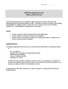 QEP Development Grant Office of the Provost