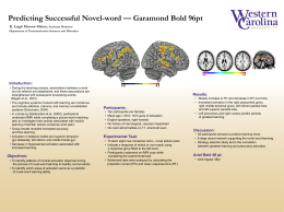 Predicting Successful Novel-word — Garamond Bold 96pt , Introduction: K. Leigh Morrow-Odom