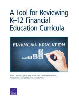 A Tool for Reviewing K–12 Financial Education Curricula