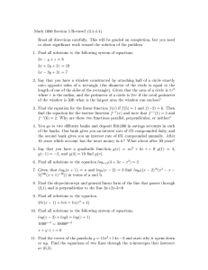 Math 1090 Section 5 Review2 (3.1-4.4)