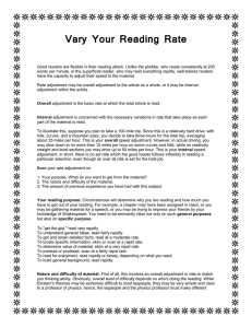 Vary Your Reading Rate