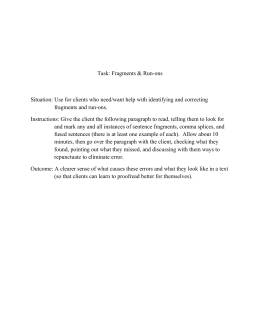 Run On Comma Splice Fragment Worksheet - The Best and Most ...