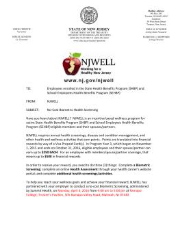 NJWELL Physician Biometric Health Screening Form Instructions