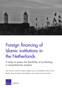 Foreign financing of Islamic institutions in the Netherlands
