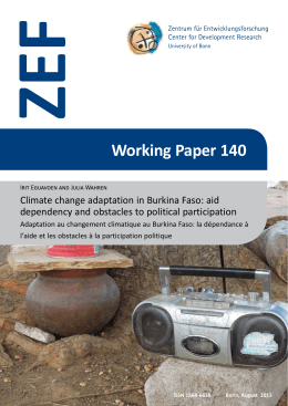 ZEF Working Paper 140 Climate change adaptation in Burkina Faso: aid