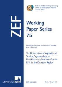 ZEF Working Paper Series 75