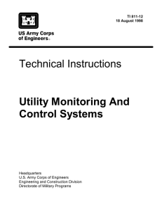 Technical Instructions Utility Monitoring And Control Systems