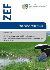 ZEF Working Paper 134 Health insurance and health environment: