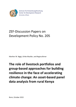ZEF-Discussion Papers on Development Policy No. 205