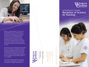 Bachelor of Science in Nursing underGraduate ProGram