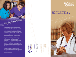Nursing Leadership titive Edg Compe Gain a