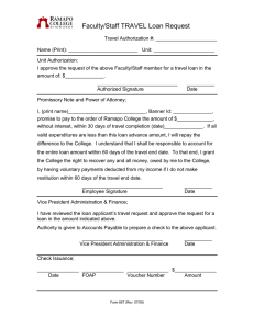 Faculty/Staff TRAVEL Loan Request