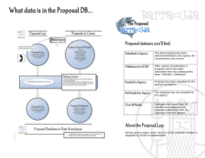 Barracuda What data is in the Proposal DB... Proposal statuses you'll find: