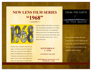 """1968"" NEW LENS FILM SERIES"