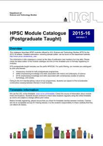 HPSC Module Catalogue (Postgraduate Taught) 2015-16