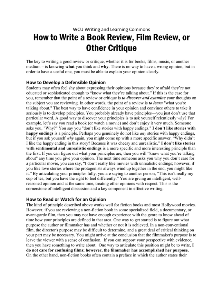 Film critique how to write top personal statement writers website for college