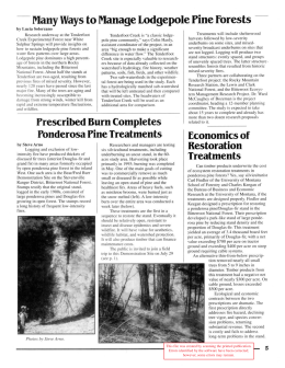 - Many Ways to Manage Lodgepole Pine forests by u