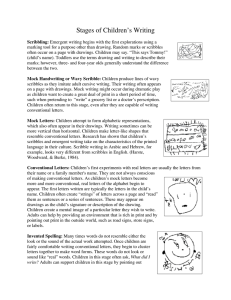 Stages of Children's Writing