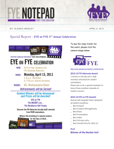 Special Report  - EYE on FYE 3