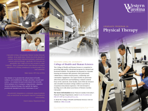 Physical Therapy GRADUATE PROGRAM IN