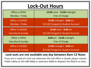 Lock-Out Hours