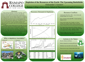 Depletion of the Resources of the Earth: The Upcoming Battlefields Abstract