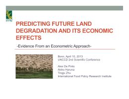 PREDICTING FUTURE LAND DEGRADATION AND ITS ECONOMIC EFFECTS -Evidence From an Econometric Approach-