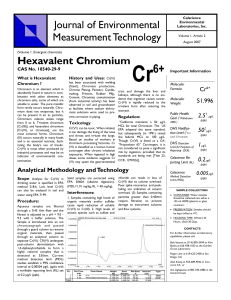 Hexavalent Chromium  CAS No. 18540-29-9