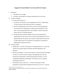 Suggested Format/Outline for External Review Report