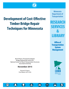 Development of Cost-Effective Timber Bridge Repair Techniques for Minnesota