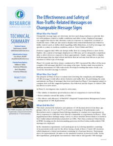 Technical ReseaRch The Effectiveness and Safety of Non-Traffic-Related Messages on