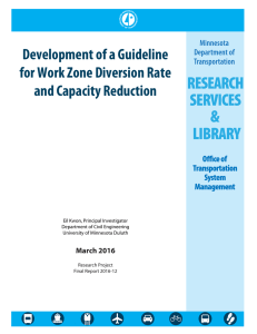 Development of a Guideline for Work Zone Diversion Rate and Capacity Reduction