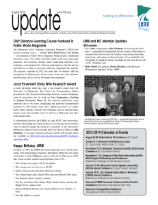 update LTAP Distance Learning Course Featured in LRRB and RIC Member Updates