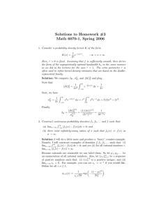 Solutions to Homework #3 Math 6070-1, Spring 2006