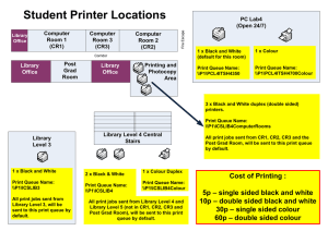 Student Printer Locations