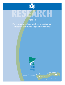 Preventive Maintenance Best Management Practices of Hot Mix Asphalt Pavements 2009-18