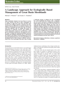 A Landscape Approach for Ecologically Based Management of Great Basin Shrublands