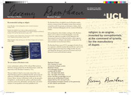 Bentham's Works Bentham Project Recommended reading on religion