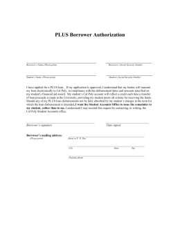 PLUS Borrower Authorization